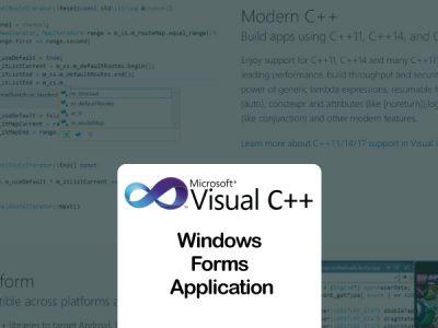 Visual C++ Windows Forms Application Tutorial